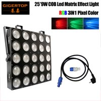 Freeshipping 25x9W RGB 3in1 LED matrice 25x9W Blinder Light DMX 84/75/30/6 DMX CANAL 5X5 Audience Tianxin Scanner Light RGB