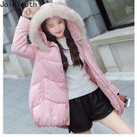 Joinyouth 2021 hiver veste femme à la fourrure à capuche épaisse Parka Femme manteau long manteau mignon des vestes de brise-vent chauds chauds 7b1951