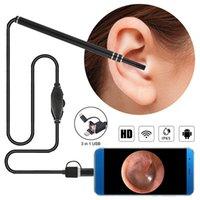 Micro Inspection Cameras Endoskope 3 in 1 Ohrreinigung Endoskop Kamera 6 LED 5,5 mm HD USB Otoscope Sichtohren Löffel