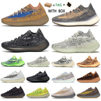2021 Kanye West yeezy boost 380 v3 Top  yezzy yeezys Factory yecheil Quality Men Sneakers Alien Mist Black Camo chaussures Women Running Shoes Receipt Socks Keychains