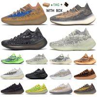 2021 Kanye West 380 V3 Üst Fabrika Kaliteli Erkekler Sneakers Alien Mist Siyah Camo Kadınlar Koşucu Ayakkabı ile Kutusu Makbuz Çorap Anahtarlıklar Etiketler Takım Elbise
