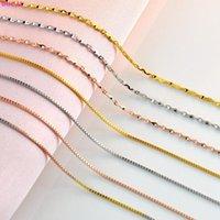 Цепи BoCai 100% Настоящий Стерлинговый Серебро S925 Ожерелье Новисброт Коробка Сеть 18K Цвет Золотой Чистый Аргентум Элегантная шейка для Женщин