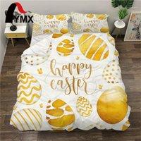 FIMX Pasqua Uova fortunate Biancheria da letto Set di copripiumino creativo per set di famiglia 3pcs (coperchio piumino + due cuscinetti) 1