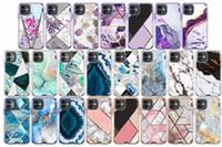 럭셔리 대리석 3in1 iPhone 12 XR Samsung Note 20 S20 용 무거운 듀티 케이스