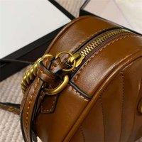 أحدث مصمم حقيبة ذهبية ثقيلة مشبك سلاسل حقيقية الكرمل عبر حقائب الجسم حقائب جلدية الرغيف الرغيفية حقيبة الكتف حك نساء S IFTB