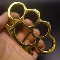 2021 железо позолоченные толстые стальные латунные костяшки сморощеного алюминиевого сплава пальца тигр четырехфазное кольцо самообороны кольца зажима