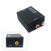 Convertidor de adaptador de audio coaxial de 3,5 mm óptico con convertidor de adaptador de audio analógico RCA L / R con adaptador de corriente de cable de fibra óptica