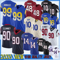 Stefon Diggs 2020 Jadeoon Clowney 16 GOFF 99 Donald 10 KUPP New Deandre Hopkins 48 Simmons Football Jersey