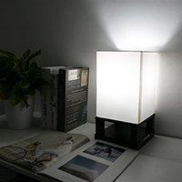 40W (ohne Glühbirne) Tischlampe US-standardmäßiger schwarzer vierecker Base (Dual-USB-Schnittstelle) AC Powered Warme Beleuchtung Tischlampen Großhandel