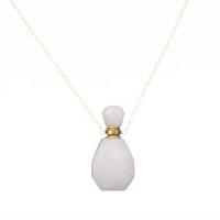 Ciondolo della bottiglia del diffusore della bottiglia del diffusore della bottiglia del diffusore dell'olio essenziale dell'aromaterapia della gemma di cristallo naturale