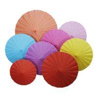 Mais barato!!! Chinese Japanesepaper Parasol de papel guarda-chuva para o casamento, damas de honra, favores de partido, Verão Sun tamanho garoto Sombra