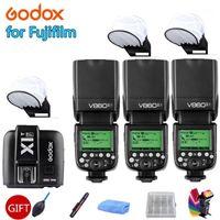 3x Godox Flash V860IIF V860II-F HSSL 2.4G Caméra Caméra Flash SpeedLite LI-ON Batterie + X1T F Trigger pour Fuji Cameras1