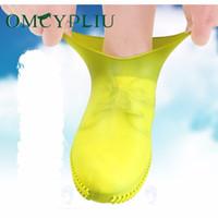 Обувь силиконовые наружные нескользящие водонепроницаемые крышки портативный дождь сапоги женщины дождь под дождем обуви для обуви мужчины подростки против песка Q1216
