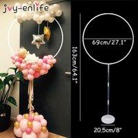 1 مجموعة جولة دائرة بالون حامل بالونات هوب حامل العمود خلفية الزفاف baloon الإطار استحمام الطفل عيد الديكور