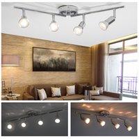 LED Çok Kafa Spot Işık Duvar Odak Spot Ayarlanabilir Aydınlatma, 4 Tavan Işıkları Kapalı, Oturma Odası (Ampul Yok)