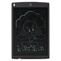 Grafik Tabletler Kalemler Siyah Ultra Ince 12 inç LCD Dijital Yazma Tablet Çizim Kurulu SketchPad Elektronik Grafik Fare Pad Cetvel1 ile