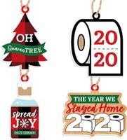 Рождественские украшения украшения бумаги кулон туалетная бумага 2020 2021 буквы орнамент рождественские кулоны висит игрушки вечеринка благополучие E111705