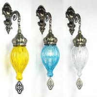 9 لون جديد المتوسط نمط الفن ديكو التركية الجليد الكراك الجدار مصباح يدويا الزجاج رومانسية الجدار ضوء مطعم بار 1