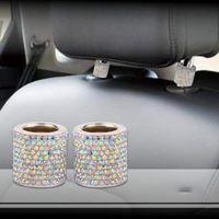 Аксессуары для интерьера автомобиля Авто украшения Bling Автомобиль Держатель сиденья Украшения Автомобиль Блен для сиденья Горный хрусталь для подголовников Ошейники Бесплатные DHL DHL