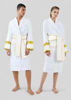 Diseñadores de lujo para hombres HOMBRES HOMBRES BAÑO MANUE LARGA Robas de algodón Nightwear Natación Pijamas Milano Unisex Sleepwear Hotel NightGroom White