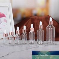 Tubes 5-100 ml Tubes Transparents Gouttes Gouttes Rose Couvre-or Rose Aromathérapie Liquide pour les bouteilles rechargeables à huile de massage essentielles