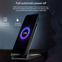 5W 10W Chargeur rapide Vertical Téléphone mobile Harree Qi Tapis de support de chargement sans fil pour téléphone portable 2 bobines sans fil Chargeur sans fil