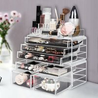 Fashionable Design Cosmetic Storage Rack with 6 Small & 2 Large Drawers Jewelry Box Plastic Storage Cabinet Ship from USA