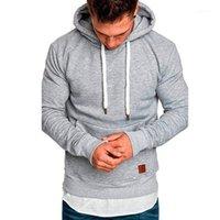 Vestes courantes Hommes Sweat à capuche Sweatshirts Solide Entraînement Jogging Costume Loisirs Crowstring Sportwear1