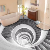 Autoadhesivo personalizado Impermeable Piso Fondo Papel Pintado 3D Escaleras Estéreo Mural Cocina Cuarto de baño Decoración para el hogar Arte creativo Etiqueta engomada 3D