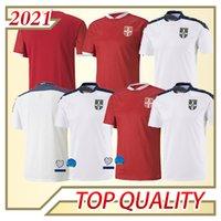 2020 New Serbia Soccer Jersey Tadic Radonjic Mitrovic Gudelj Rajkovic Jovic مخصص 20 21 فريق وطني الصفحة الرئيسية قميص أبيض أحمر