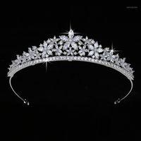 Krone Hadiyana Süße Romantik Lebende Tiara Frauen Hochzeit Haarschmuck Prinzessin Zirkonia Luxus Schmuck HG0035 Coroa de noiva1