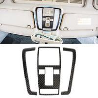 3 PCS Autocollant décoratif de la fibre de carbone de panneau de lumière de la voiture avant pour Mercedes-Benz W204