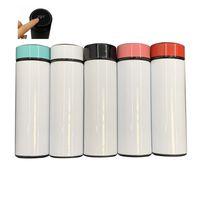 Heißer Verkauf 17 Unzen leere Sublimation Temperaturanzeige Wasserflasche 17Oz 500 ml Vakuum DIY Wärmeübertragung Druck Wasserflasche