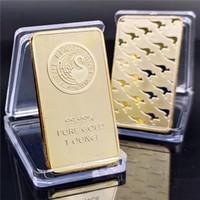 호주 도금 24K 금 기념 동전 1 oz 퍼스 민트 골드 바 초콜릿 동전 선물 DHL 무료 배송