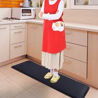 WACO Kitchen Dining Room Anti-Fatigue Mat, for Bar Beauty Salon Office Garages, Cushioned Standing Comfort Floor Mats Waterproof Black Lattice