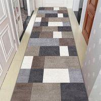 긴 계단 카펫 노르딕 홈 침실 복도 카펫 복도 깔 개 기하학 통로 바닥 매트 침대 옆 창 깔개 긴 카펫 Y200527