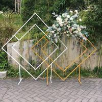 Diamante boda arco globo flor telón de fondo soporte para el hogar decoración geométrica floral fondo marco decoración1