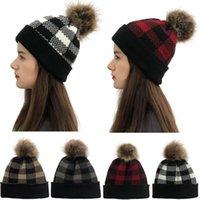 Winter Mützen Hut für Frauen Tapa de COBERTURA Häkeln Strick Weiche Kappe Plaid Nähte Skullies Beanie Hüte Caps Gorra Para Mujer