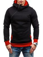 Herren Hoodies Sweatshirts Europäischen und amerikanischen Herren Frühling Langarm mit Kapuze Sweathirt Kapuze Schrägverschluss Hoodie Jacke Kleidung CO