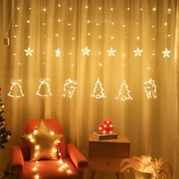 Lampada a LED Star Light Star and Moon Holiday String Light Lampada da decorazioni impermeabile per feste di nozze Natale LED luce 10pcs T1i3041
