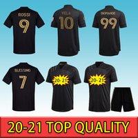 팬 MLS LAFC 홈 축구 유니폼 2021 블랙 # 10 Vela Rossi # 9 로스 앤젤레스 클럽 축구 셔츠 20/21 남성 공 유니폼 셔츠 16-2XL