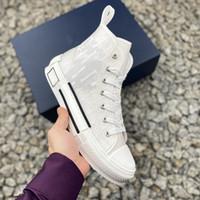 Designer Mens Classic Shoes 20SS B21 B22 B23 Наклонные высокие нижние верхние кроссовки платформы Технический холст Кожаная пчела роскоши тренеров