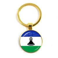 카보 숑 키 체인 지부티, 우간다, 감비아, 콩고, 가봉, 코모로, 레소토, 소말리아, 국기 25mm Keyholder 유리 선물