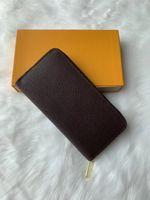 Новый стиль моды мужчины женщин ZIP кошелька карт держателей кошельки кожаный монетный карман с коробкой