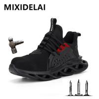 Yeni Bahar Çelik Toe Kap Erkekler Emniyet Ayakkabı Çalışma Sneakers Kadın Çizmeler Artı Boyutu 36-48 Nefes Açık Ayakkabı Mixidelai Marka 201209