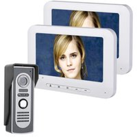 Telefones de porta de vídeo Mountainone 7 polegadas TFT 2 Monitores Telefone Doorbell Intercomitam Kit 1-câmera 2-Monitor Night Vision com HD 700TVL Camera1