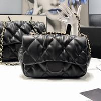 Alta qualidade bolsa de bolha de segunda mão marca famosas senhoras pequeno saco quadrado moda messenger couro macio ombro