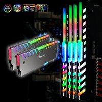 المراوح تبريد 2 قطع Jonsbo NC-2 RGB ذاكرة رام برودة ssd درع الحرارة بالوعة أورا 12 فولت / 5 فولت سبائك الألومنيوم شل العالمي الملونة الرادياتير mod1