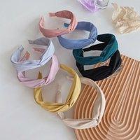 2021 Neue Frauen Headwear Kreuz Knoten Weiche Stirnband Süßigkeiten Farbe Turban Frau Süße Haarschmuck Großhandel