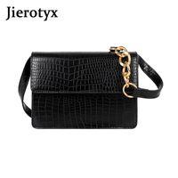 Jierotyx 2020 новый изысканный дизайнер женские сумки на ремне оптом шикарные металлические цепные сумки на плечо мессенджер модный скрещивание сумки